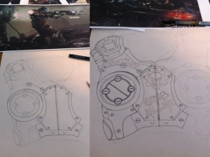 gears of war armor drawing